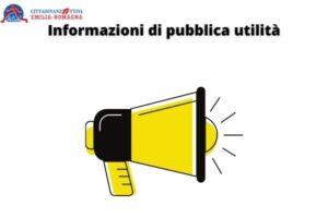 Informazioni di pubblica utilità